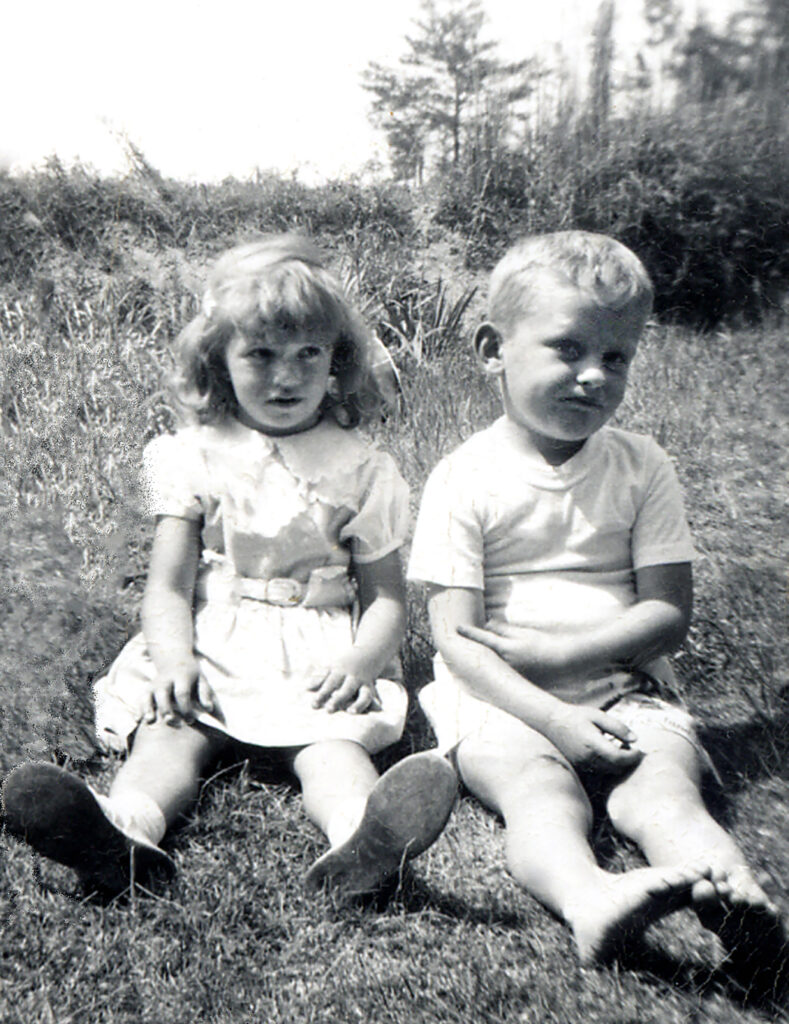 My fifth birthday with cousin Terry